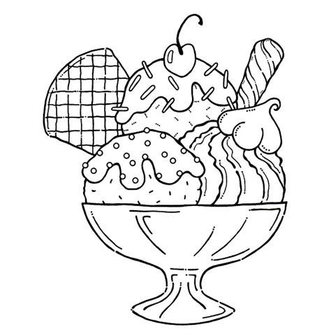 printable ice cream coloring pages  kids