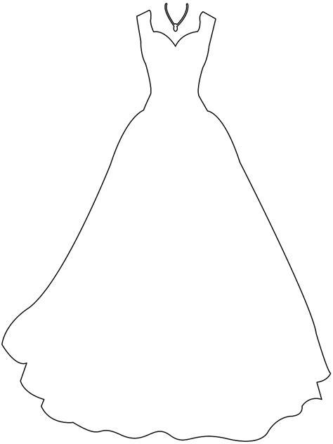 Trouwjurk Kleurplaat by Wedding Gown Silhouette Free Vector Silhouettes
