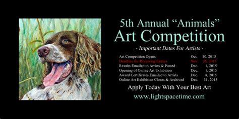 animals   art competition event postcard