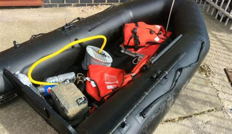Inflatable Boat Kent by Two Suspected Migrants In A Dinghy Rescued Off Kent Coast