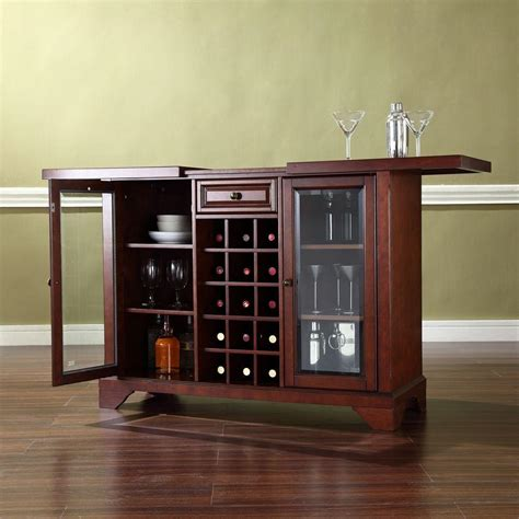 bar cabinets home depot crosley lafayette mahogany bar with sliding top kf40002bma