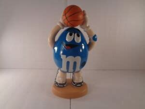 mms limited edition sports blue basketball player candy
