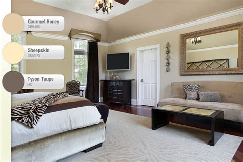 taupe  beige bedroom interiors  color