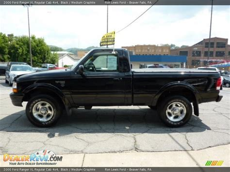 2000 ford ranger xl regular cab 4x4 black medium graphite photo 6 dealerrevs