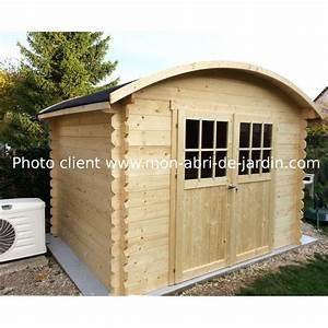 Toit En Bois : abri de jardin en bois massif 28mm 7 09m toit berceau solid ~ Melissatoandfro.com Idées de Décoration
