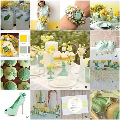 Mint Green And Gold Wedding Inspiration Lemon Mint