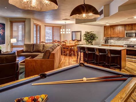 pool table in living room ski in out 3 br luxury condo on main st vrbo