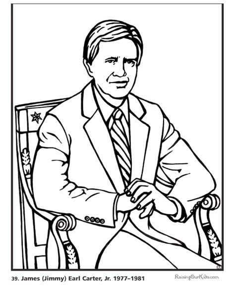 Presidents Coloring Pages by Free Printable President Jimmy Coloring Pages