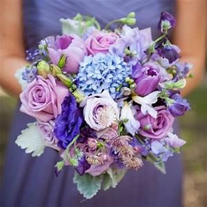 Purple Hued Bridesmaids Bouquet | wedding | Pinterest