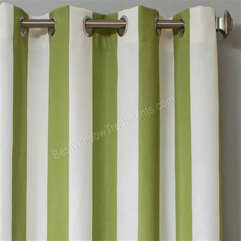 Sunbrella Drapes - sunbrella stripe outdoor curtain panel available in 7 colors