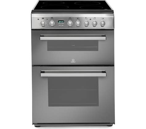 Buy INDESIT DD60C2CX Double Electric Ceramic Cooker
