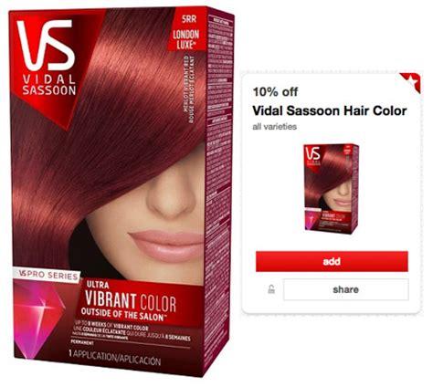 vidal sassoon hair color coupon 2 70 reg 8 vidal sassoon hair color at target