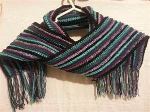 Striped Crochet Scarf by FreneticFox on DeviantArt