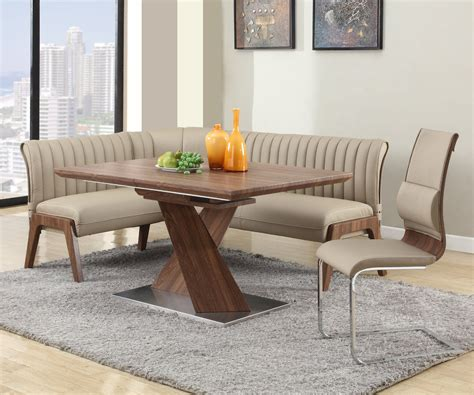 extendable  wood leather furniture dining room sets