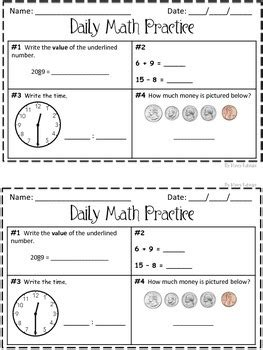 Daily Math Practice Worksheets Free Worksheets Library  Download And Print Worksheets  Free On