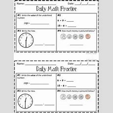 Daily Math Practice! 2nd Grade Set 1 By Nancy Robinson Tpt