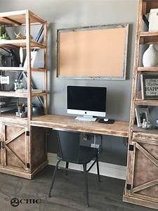 DIY Floating Desk for Office Towers - Shanty 2 Chic