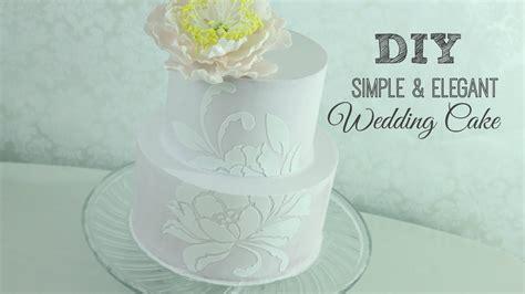 diy simple elegant wedding cake youtube