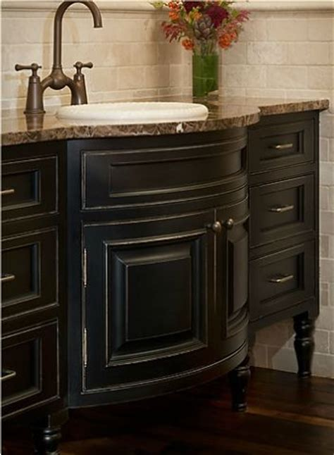 bathroom vanity ideas  black painted cabinetry