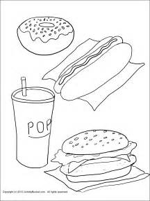 Healthy vs Unhealthy Foods Coloring Pages