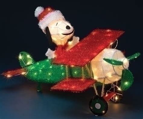 snoopy lighted yard art animated snoopy christmas decorations photograph lighted p