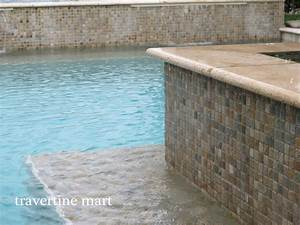 12x24 Ivory Travertine Pool Coping and Tiles - Natural