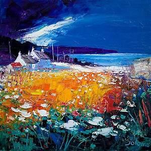 Autumn Light, Westport Kintyre Art Print by John Lowrie ...