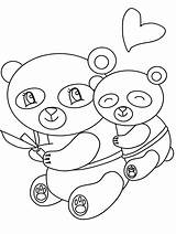 Coloring Panda Pages Cute Baby Popular sketch template