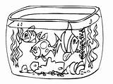 Coloring Aquarium Colorear Paisajes Pecera Coloriage Dibujo Dibujos Akwarium Imprimir Imprimer Pond Imagui Acuario Rybki Kolorowanki Tank Peces Peceras Dibujar sketch template