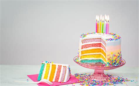 Arma 3 Hd Wallpaper Descargar Fondos De Pantalla Pastel De Cumpleaños Velas Feliz Cumpleaños Pastel De Arco Iris