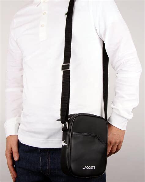 lacoste ultimum camera bag black shoulder pouch