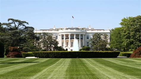 Background House by White House Front Lawn Background