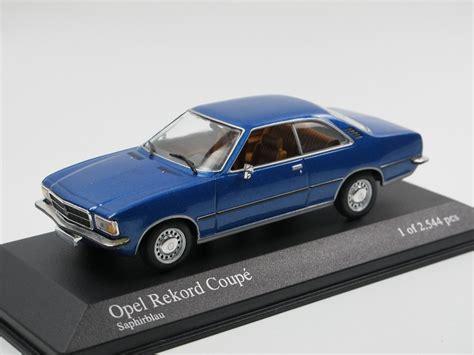 opel rekord d coupe minichs 1975 opel rekord d coupe saphirblau 1 43 modellauto