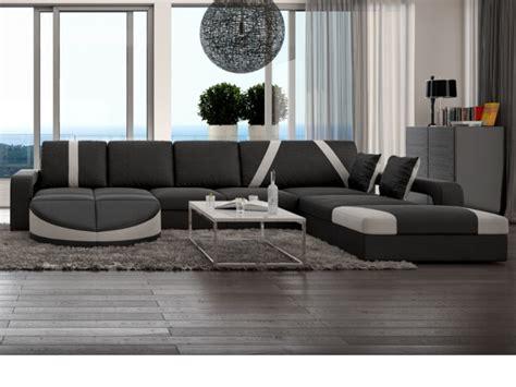 canapé mousse polyuréthane canapé d 39 angle droit en simili noir blanc mintika