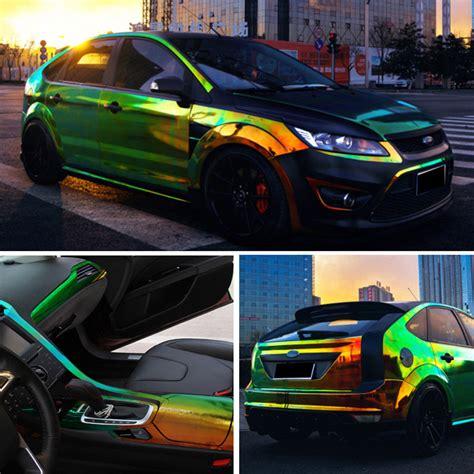 Holographic Rainbow Neo Chrome Car Vinyl Wrap Bubble Free