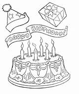 Coloring Birthday Happy Pages Cake Cards Appreciation Printable Grandma Pastor Cakes Card Kitty Hello Gifts Clipart Adult Cartoon Printables Variety sketch template