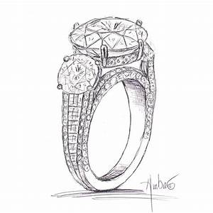 drawn ring engagement ring pencil and in color drawn With drawing wedding rings