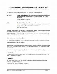 general agreement template general contractor contract With general contractors contract template