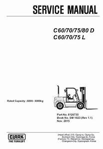 Clark Forklift C60  70  75  80d  C60  70  75l Pdf Service