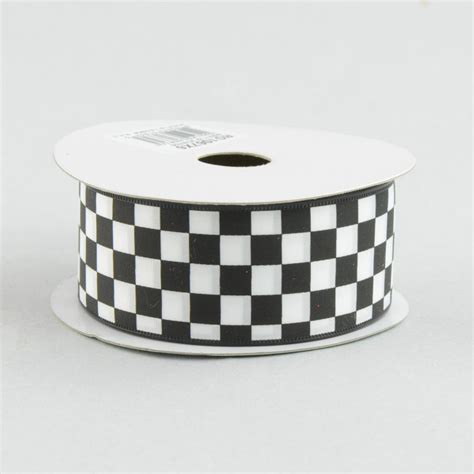 Black And White Checkered Ribbon
