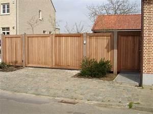 portail en bois sur mesure a lasne mt design With portail exterieur sur mesure