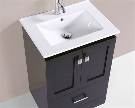 "24"" Redondo Espresso Single Modern Bathroom Vanity With"