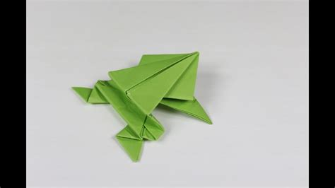 origami jumping frog     origami paper frog