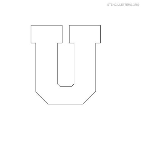 Block Letter Template Free by Free Printable Block Letter Stencils Stencil Letters U