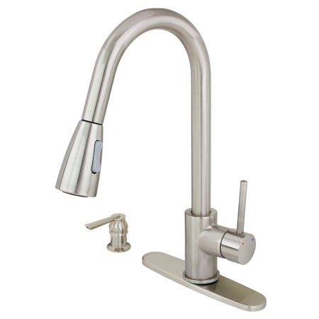 brushed nickel kitchen sink faucet soap dispenser brushed nickel kitchen sink faucet pull out spray soap