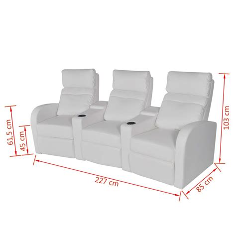 3 seater sofa with 2 recliner actions artificial leather home cinema recliner reclining sofa 3