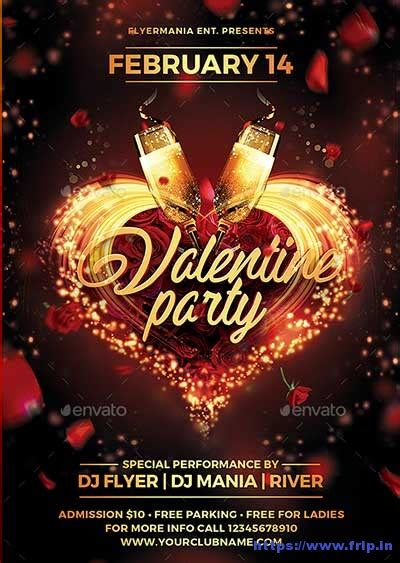 40+ Best Valentine's Day Party Flyer Templates 2020 | Frip.in