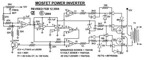 Watt Power Inverter Schematic Diagram For Reference