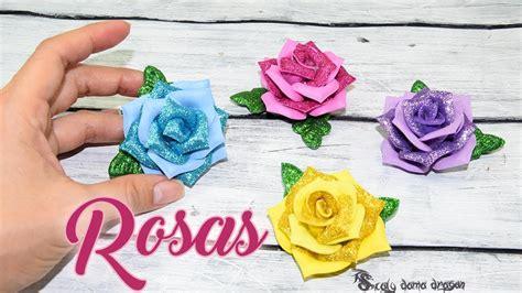 Como hacer Mini Rosas de Goma eva con moldes YouTube