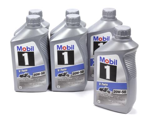 Mobil 1 20w50 Synthetic V-twin Motorcyclemotor Oil 1 Qt 6